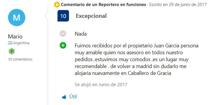 Comentarios en Booking