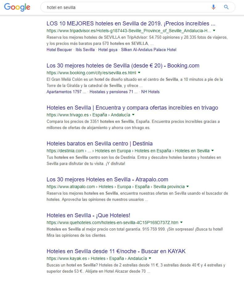 Hotel en Sevilla - Búsqueda en Google