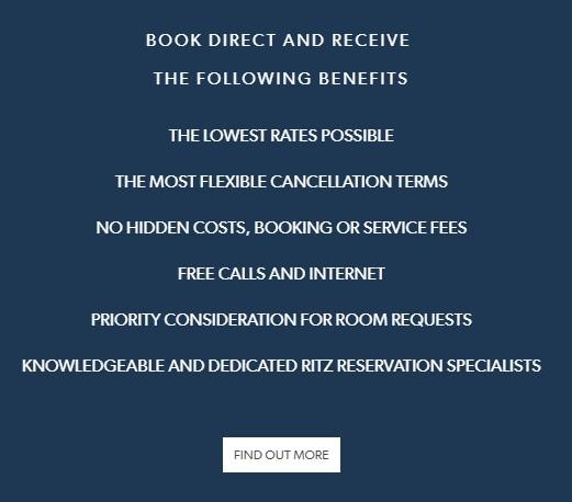 Propuestas de valor para buscar la reserva por el canal directo