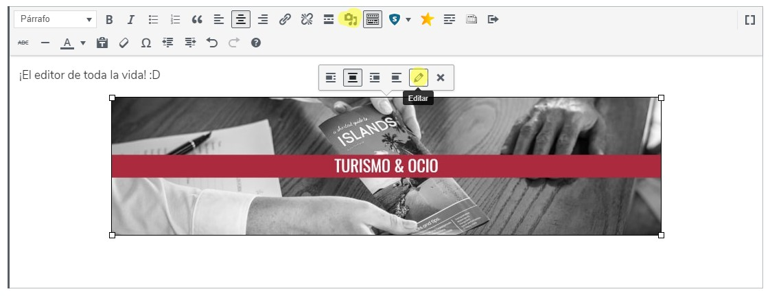 Antiguo editor de WordPress