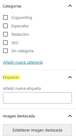 Tags o etiquetas en WordPress