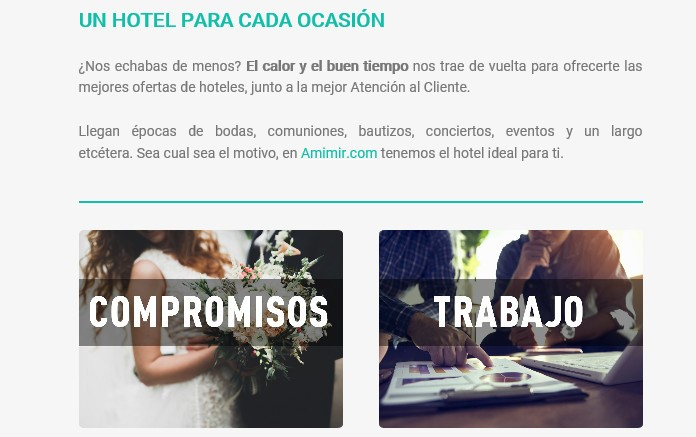 Ejemplo de email marketing en turismo