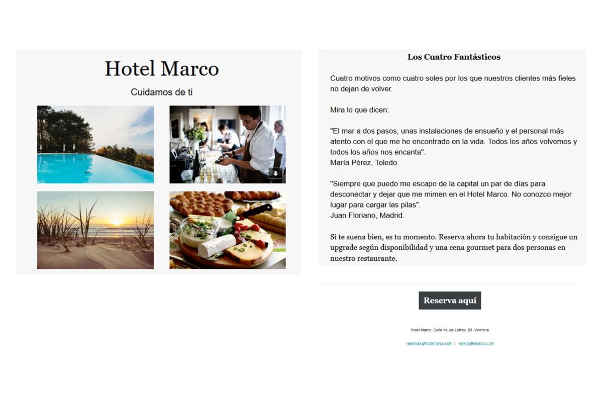 Fase de investigación - Hotel Marco