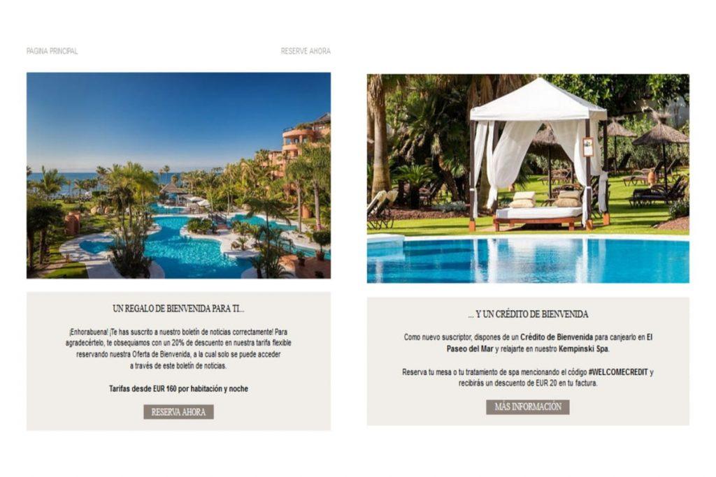 Suscripción por email al Hotel Hempinski