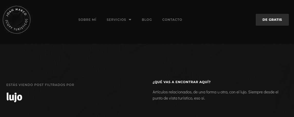 Página de etiqueta en WordPress