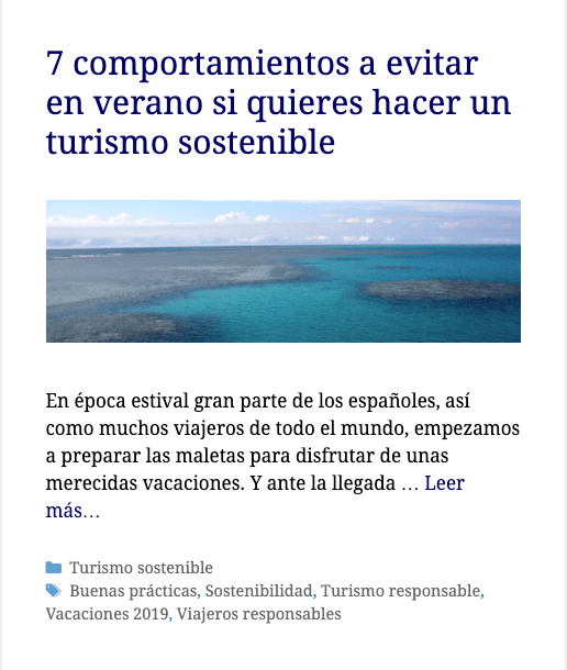 Post de Travel Me Softly de turismo sostenible sobre comportamientos a evitar